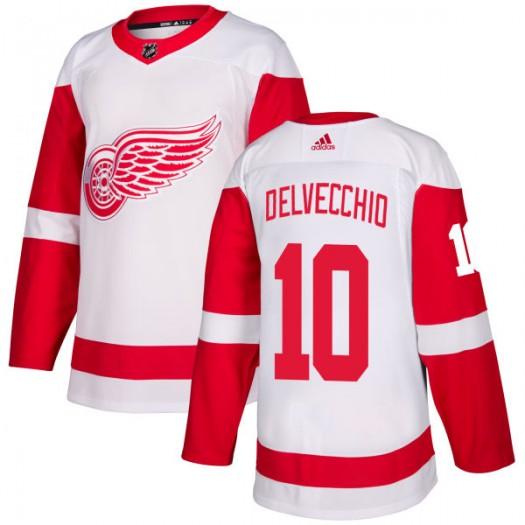 Alex Delvecchio Detroit Red Wings Men's Adidas Authentic White Jersey