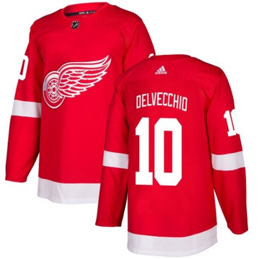 Alex Delvecchio Detroit Red Wings Youth Adidas Authentic Red Home Jersey