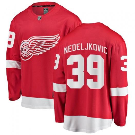 Alex Nedeljkovic Detroit Red Wings Men's Fanatics Branded Red Breakaway Home Jersey