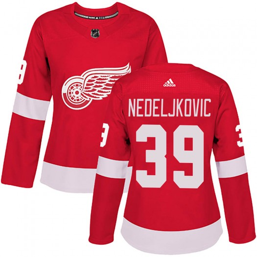Alex Nedeljkovic Detroit Red Wings Women's Adidas Authentic Red Home Jersey