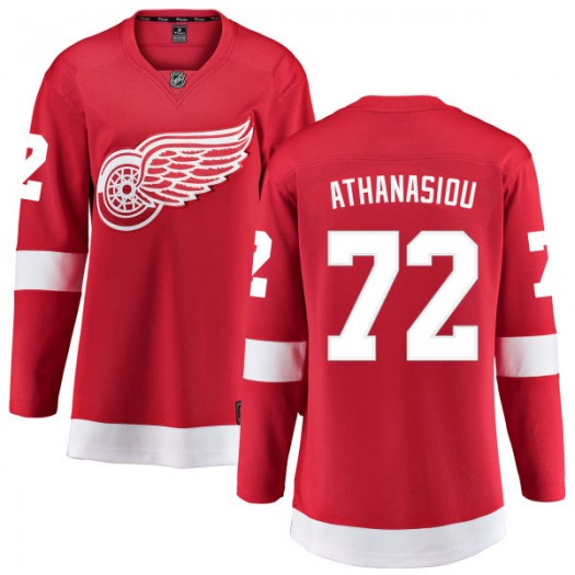 Andreas Athanasiou Detroit Red Wings Women's Fanatics Branded Red Home Breakaway Jersey