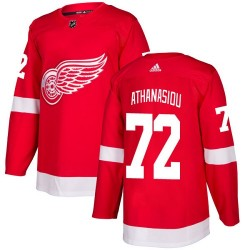 Andreas Athanasiou Detroit Red Wings Youth Adidas Authentic Red Home Jersey