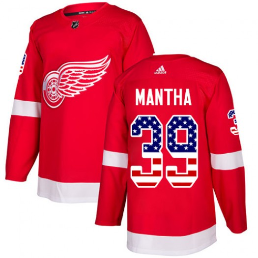 Anthony Mantha Detroit Red Wings Men's Adidas Authentic Red USA Flag Fashion Jersey