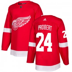 Bob Probert Detroit Red Wings Men's Adidas Authentic Red Jersey