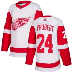 Bob Probert Detroit Red Wings Women's Adidas Authentic White Away Jersey
