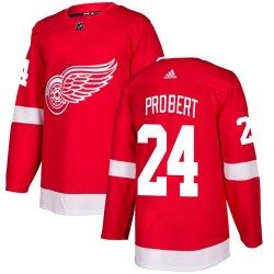 Bob Probert Detroit Red Wings Youth Adidas Authentic Red Home Jersey