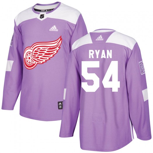 Bobby Ryan Detroit Red Wings Men's Adidas Authentic Purple Hockey Fights Cancer Practice Jersey