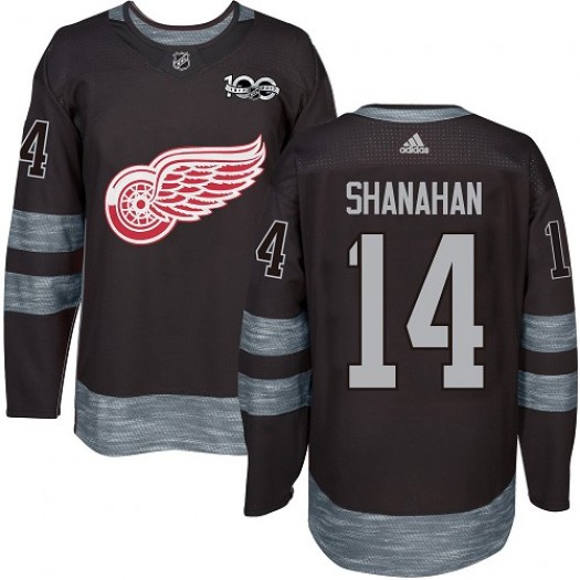 Brendan Shanahan Detroit Red Wings Men's Adidas Authentic Black 1917-2017 100th Anniversary Jersey