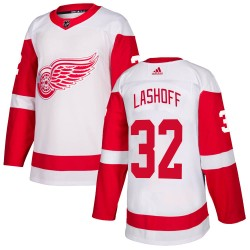Brian Lashoff Detroit Red Wings Men's Adidas Authentic White Jersey