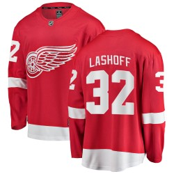 Brian Lashoff Detroit Red Wings Youth Fanatics Branded Red Breakaway Home Jersey