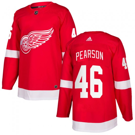 Chase Pearson Detroit Red Wings Men's Adidas Authentic Red Home Jersey