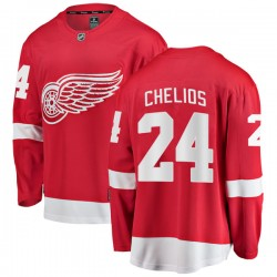 Chris Chelios Detroit Red Wings Youth Fanatics Branded Red Breakaway Home Jersey