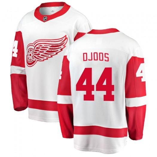 Christian Djoos Detroit Red Wings Men's Fanatics Branded White Breakaway Away Jersey