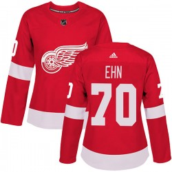 Christoffer Ehn Detroit Red Wings Women's Adidas Authentic Red Home Jersey