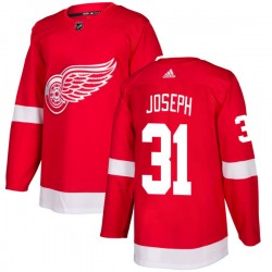 Curtis Joseph Detroit Red Wings Men's Adidas Authentic Red Jersey