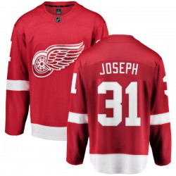 Curtis Joseph Detroit Red Wings Men's Fanatics Branded Red Home Breakaway Jersey