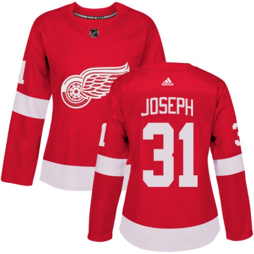 Curtis Joseph Detroit Red Wings Women's Adidas Authentic Red Home Jersey