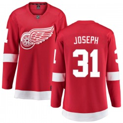 Curtis Joseph Detroit Red Wings Women's Fanatics Branded Red Home Breakaway Jersey