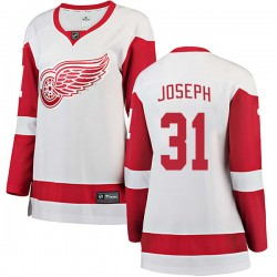 Curtis Joseph Detroit Red Wings Women's Fanatics Branded White Breakaway Away Jersey