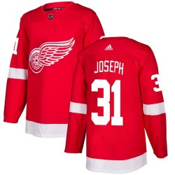 Curtis Joseph Detroit Red Wings Youth Adidas Authentic Red Home Jersey