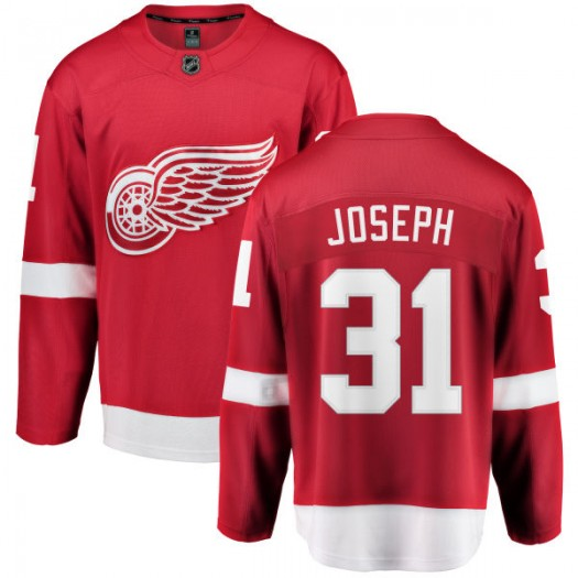 Curtis Joseph Detroit Red Wings Youth Fanatics Branded Red Home Breakaway Jersey