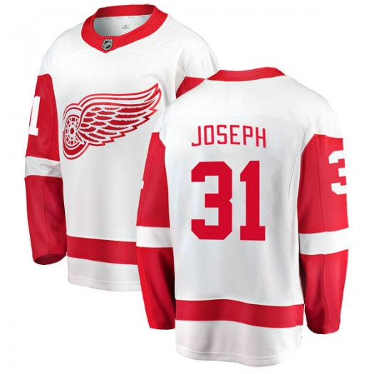 Curtis Joseph Detroit Red Wings Youth Fanatics Branded White Breakaway Away Jersey