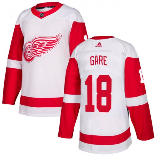 Danny Gare Detroit Red Wings Men's Adidas Authentic White Jersey