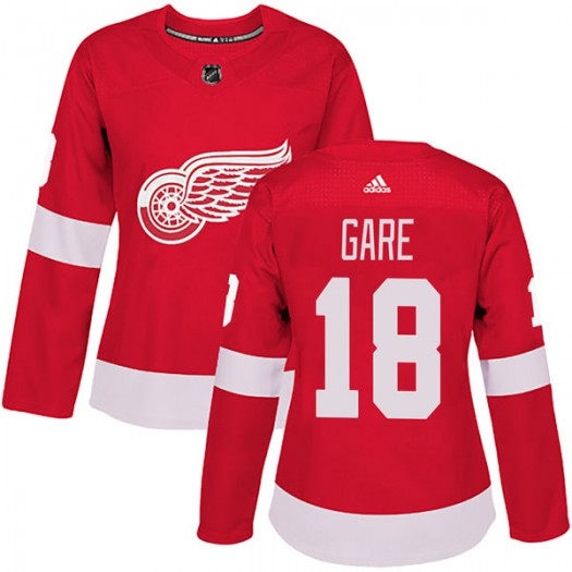 Danny Gare Detroit Red Wings Women's Adidas Authentic Red Home Jersey