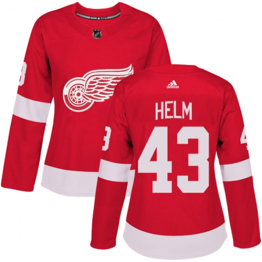 Darren Helm Detroit Red Wings Women's Adidas Authentic Red Home Jersey