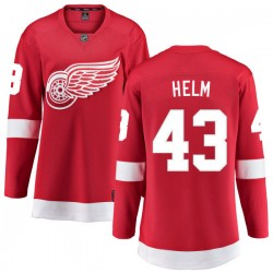 Darren Helm Detroit Red Wings Women's Fanatics Branded Red Home Breakaway Jersey