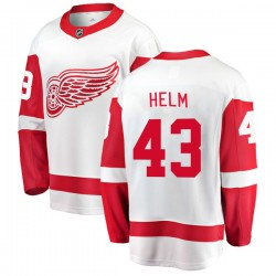 Darren Helm Detroit Red Wings Youth Fanatics Branded White Breakaway Away Jersey