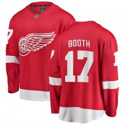 David Booth Detroit Red Wings Men's Fanatics Branded Red Breakaway Home Jersey