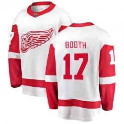 David Booth Detroit Red Wings Men's Fanatics Branded White Breakaway Away Jersey