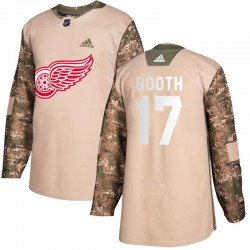 David Booth Detroit Red Wings Youth Adidas Authentic Camo Veterans Day Practice Jersey