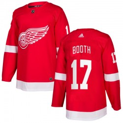 David Booth Detroit Red Wings Youth Adidas Authentic Red Home Jersey