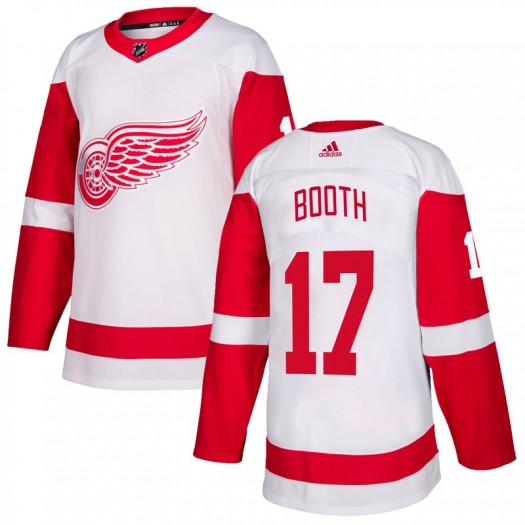 David Booth Detroit Red Wings Youth Adidas Authentic White Jersey