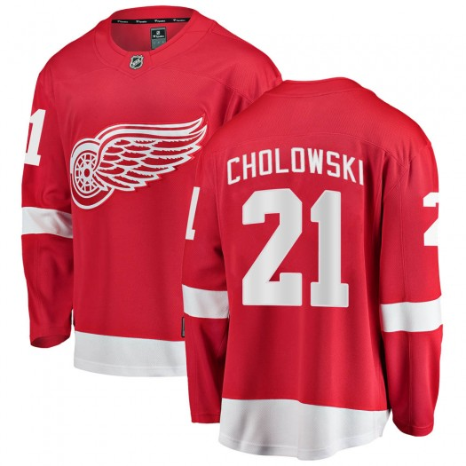 Dennis Cholowski Detroit Red Wings Men's Fanatics Branded Red Breakaway Home Jersey