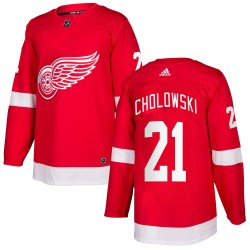 Dennis Cholowski Detroit Red Wings Youth Adidas Authentic Red Home Jersey