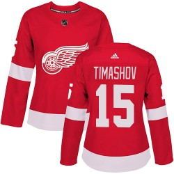 Dmytro Timashov Detroit Red Wings Women's Adidas Authentic Red ized Home Jersey