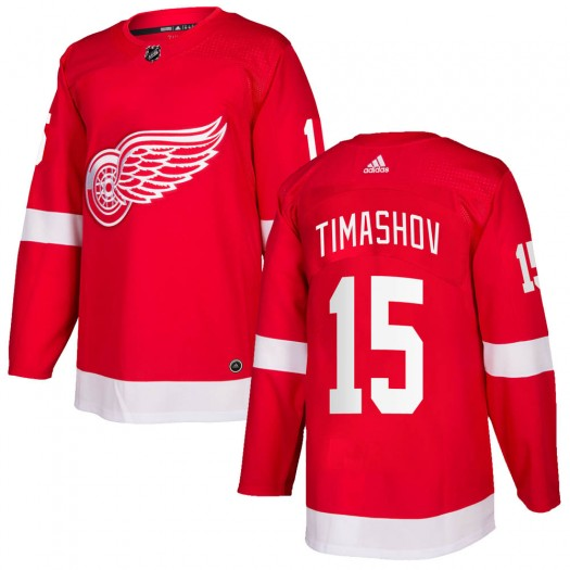 Dmytro Timashov Detroit Red Wings Youth Adidas Authentic Red ized Home Jersey