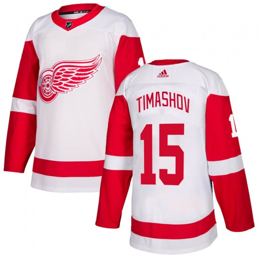 Dmytro Timashov Detroit Red Wings Youth Adidas Authentic White ized Jersey