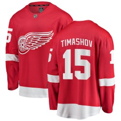 Dmytro Timashov Detroit Red Wings Youth Fanatics Branded Red ized Breakaway Home Jersey