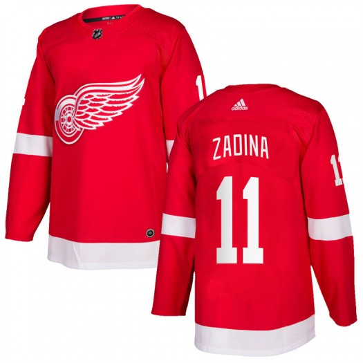 Filip Zadina Detroit Red Wings Men's Adidas Authentic Red Home Jersey