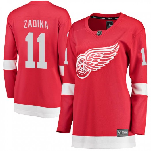 Filip Zadina Detroit Red Wings Women's Fanatics Branded Red Breakaway Home Jersey