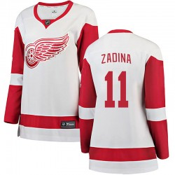 Filip Zadina Detroit Red Wings Women's Fanatics Branded White Breakaway Away Jersey
