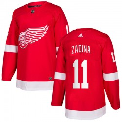 Filip Zadina Detroit Red Wings Youth Adidas Authentic Red Home Jersey