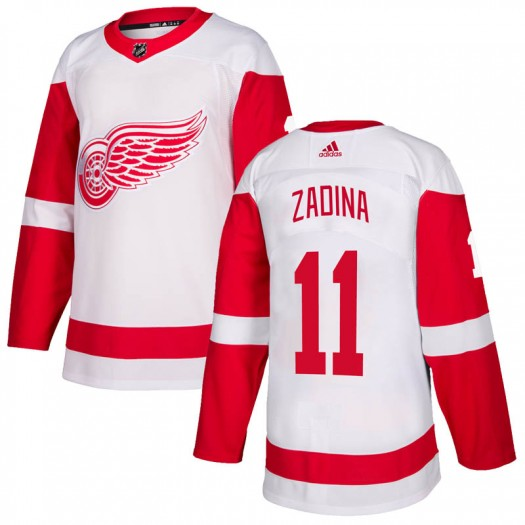 Filip Zadina Detroit Red Wings Youth Adidas Authentic White Jersey
