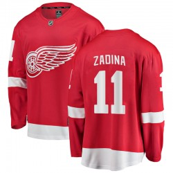 Filip Zadina Detroit Red Wings Youth Fanatics Branded Red Breakaway Home Jersey
