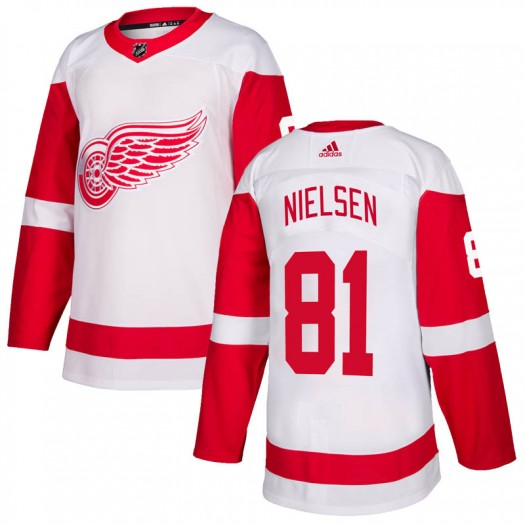 Frans Nielsen Detroit Red Wings Men's Adidas Authentic White Jersey
