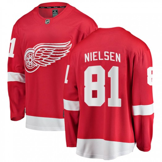 Frans Nielsen Detroit Red Wings Men's Fanatics Branded Red Breakaway Home Jersey